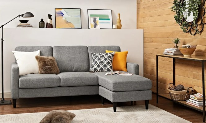 The Versatility Of Reversible Sectionals Makes Them Perfect For Small Apartments