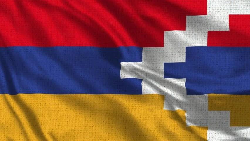 nagorno karabakh flag footage