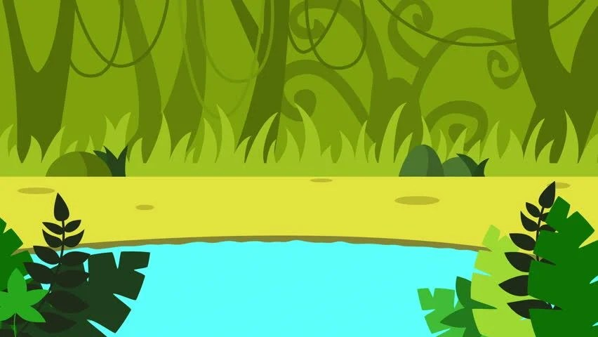 Cartoon Pond Animation Cartoon Landscape Stock Footage Video 100 Royaltyfree 1019931451