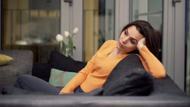Sad, Unhappy Woman Sitting On Stock Footage Video (100 ...