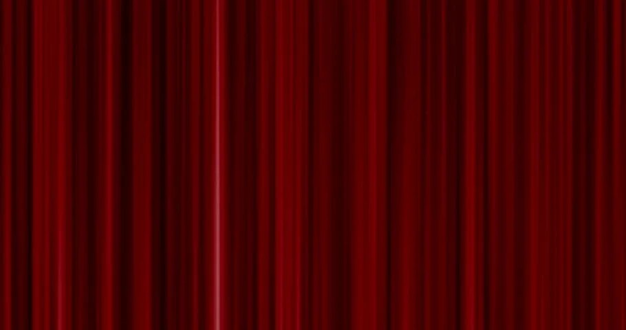Red Velvet Theater Curtain With Alpha Chanell Stock