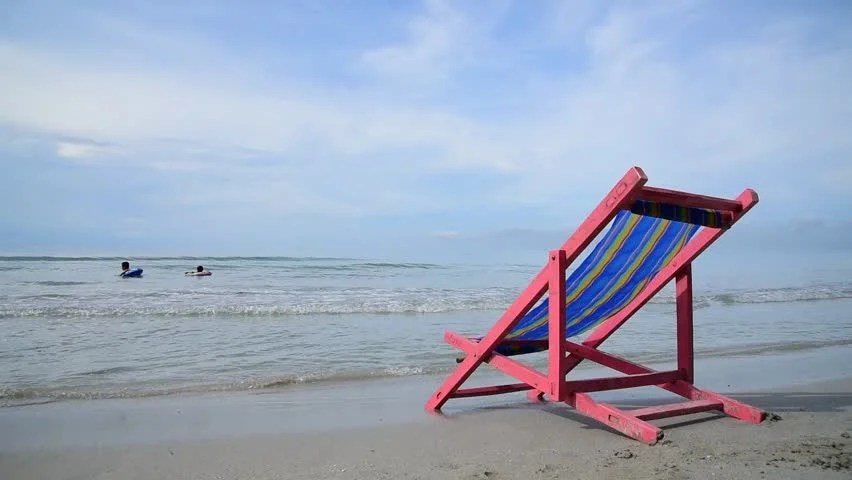 pink beach chair wheel lift at the stock footage video 100 royalty free close of white sand on thai island