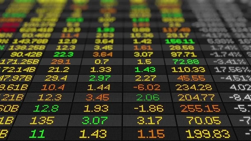 Stock Market Board Stock Exchange Stock Footage Video