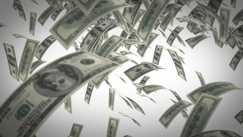 Falling Money Wallpaper Hd Money Rain Stock Footage Video 1329529 Shutterstock