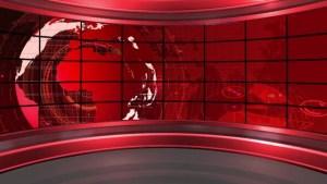 background newsroom studio tv broadcast screen footage virtual presenter place balcony shutterstock 4k visually similar