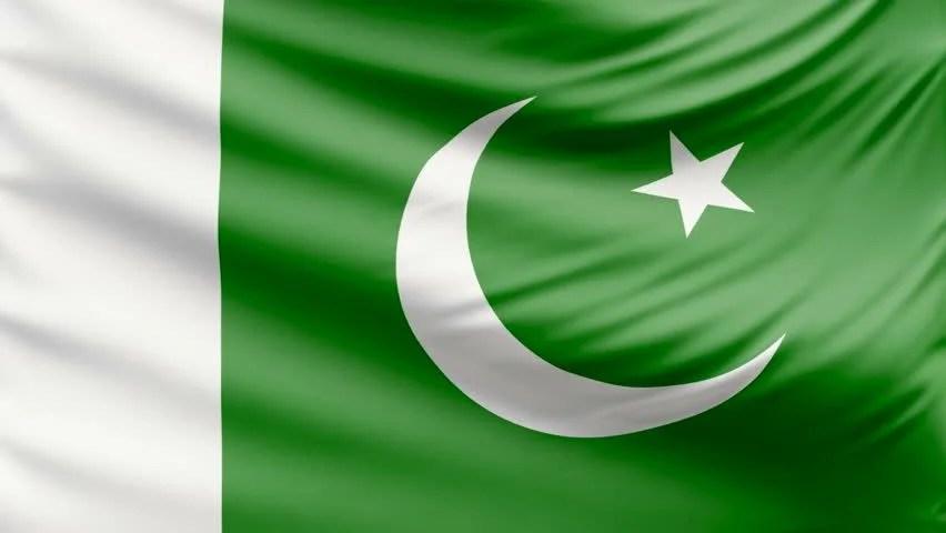Realistic Beautiful Pakistan Flag 4k Stock Footage Video