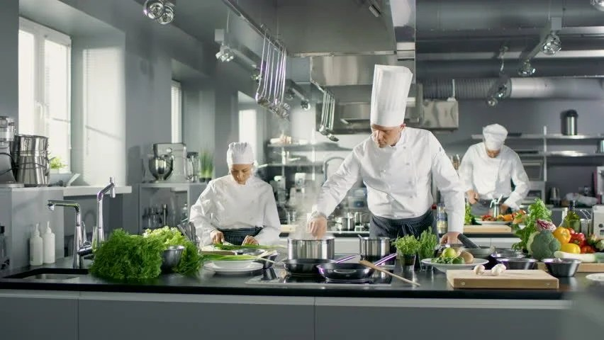 kitchen chief spray head faucet famous chef works in a stock footage video 100 royalty free big restaurant with his help is full of food vegetables and boiling dishes shot on red epic w 8k helium cinema