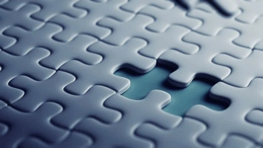 Last Piece of a Puzzle Stock Footage Video 100 Royalty