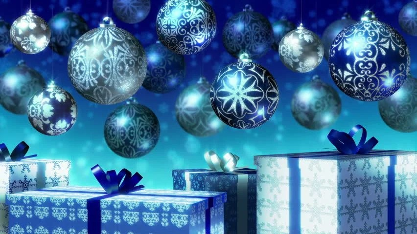 Free 3d Snow Falling Wallpaper Christmas Balls And Gifts Loop Stock Footage Video 100