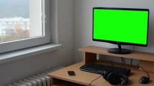 screen computer couple shutterstock tv blank sitting footage nobody