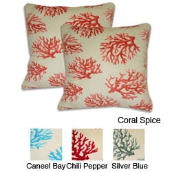 Coral Print Microluxe Pillows (Set of 2)