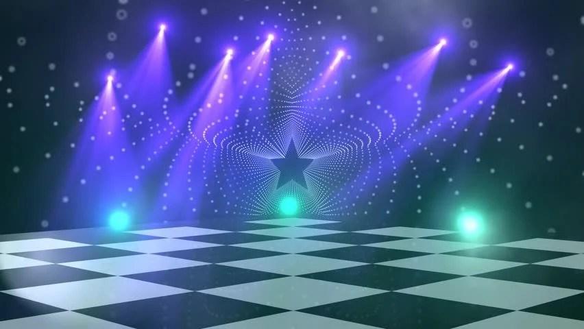 Chess Board 3d Wallpaper Virtual Dance Floor Disco Lights Stock Footage Video 100