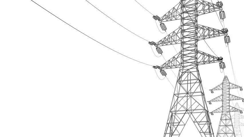 High-voltage Power Lines Stock Footage Video 18141424