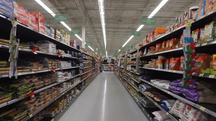 MONTREAL CANADA AUGUST 2016 Shopping Inside Walmart