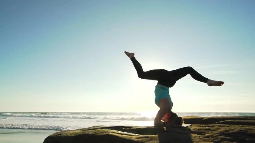 Quiet Girl Wallpaper Download Practice Yoga Stock Footage Video 7439545 Shutterstock
