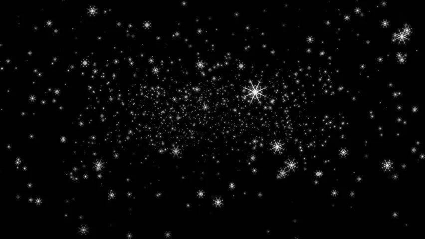 Falling From Stars Wallpaper Snowflakes Are Falling Against A Basic Black Background