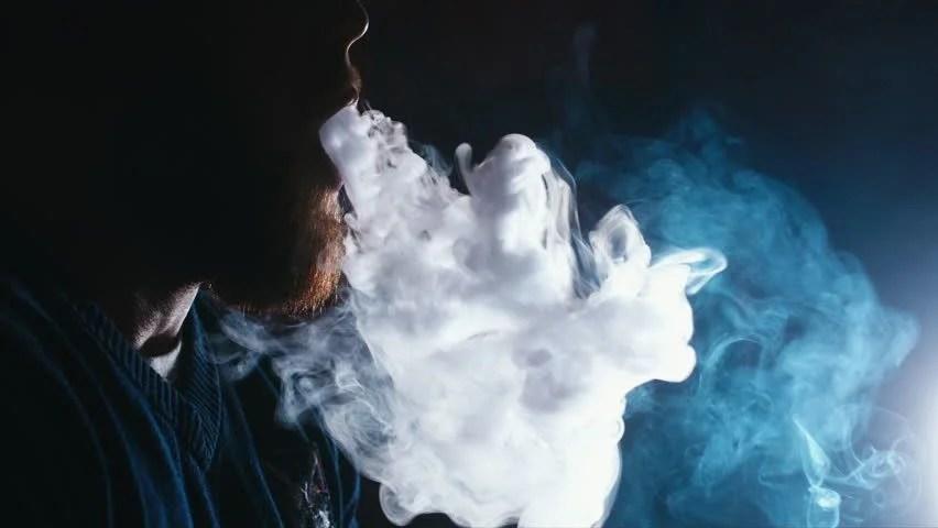 Girl Smoking Wallpaper Hd Cu Young Caucasian Male Vaping Stock Footage Video 100