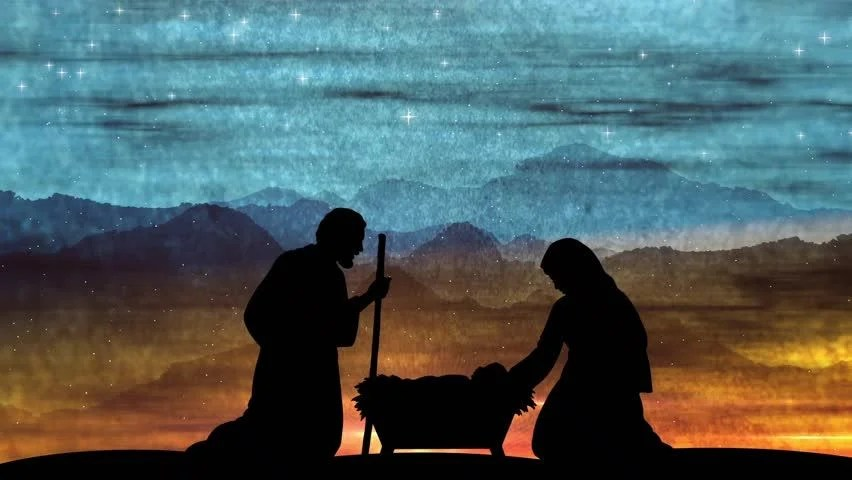 Large Religious Christmas Advent Scene Stock Footage Video