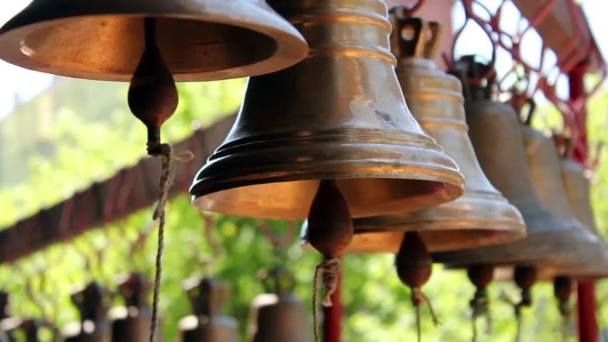 Construction Wallpaper Hd Church Bells Hanging On The Street Stock Footage Video
