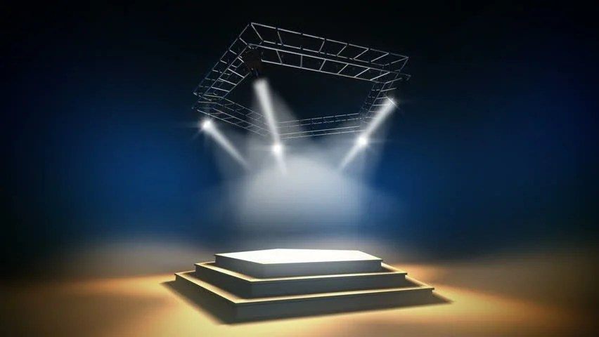 Blue Animated Wallpaper Illuminated Music Stage On A Stock Footage Video 100