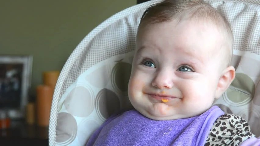 Baby Making Funny Faces and Stock Footage Video (100% ...