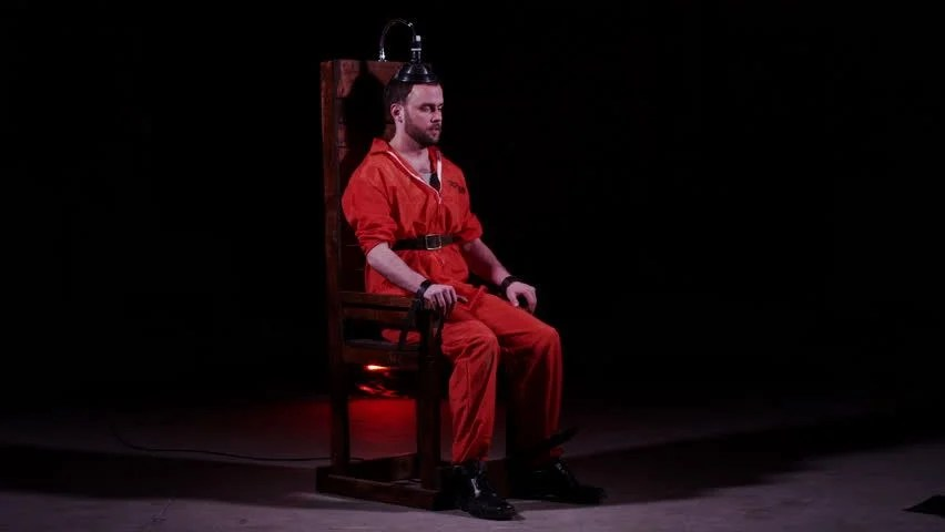 death by electric chair video rocking gliders for nursery capital punishment stock footage 100 male prisoner sitting in awaiting sentence