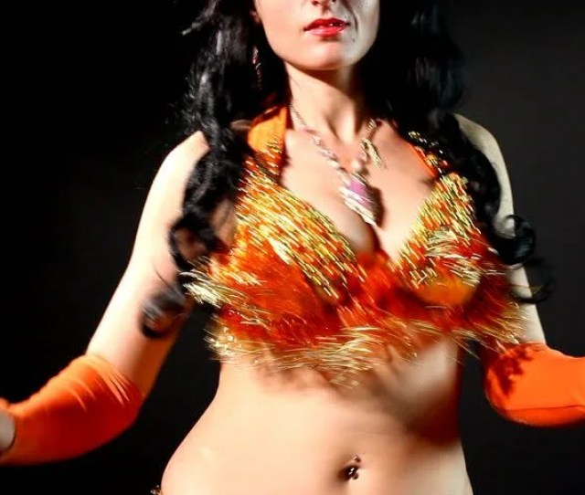 Woman Belly Dance Shake Breasts