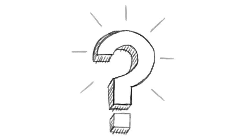 Animated Question Mark, White Chalk Stock Footage Video