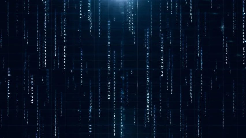 Matrix Falling Code Wallpaper Binary Digital Tech Data Code Computer Stock Footage Video