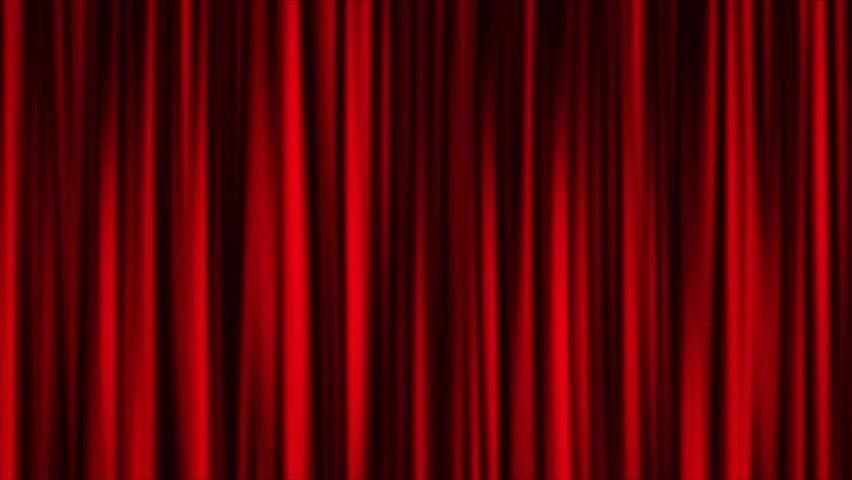 Red Curtain Animation Background Stock Footage Video 100