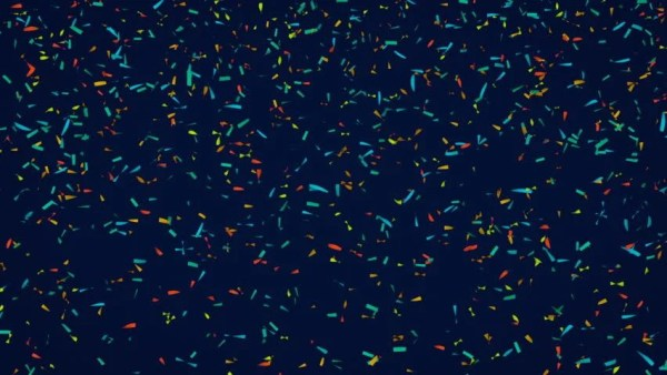animation of colorful confetti