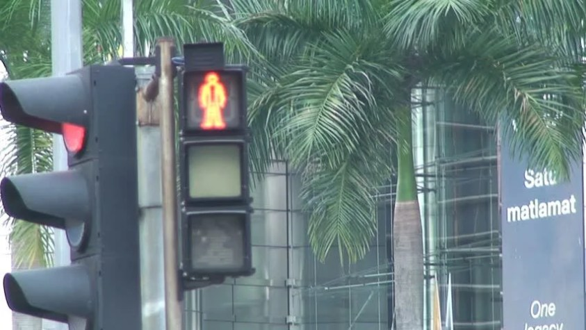 Image result for crossing at traffic lights malaysia