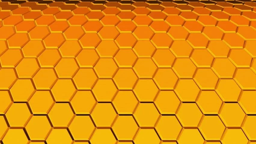 Hexagon Wallpaper 3d Bee Hive And Bees Transition In Alpha Channel Stock