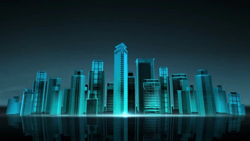 Construction Building City Skyline and Stock Footage Video