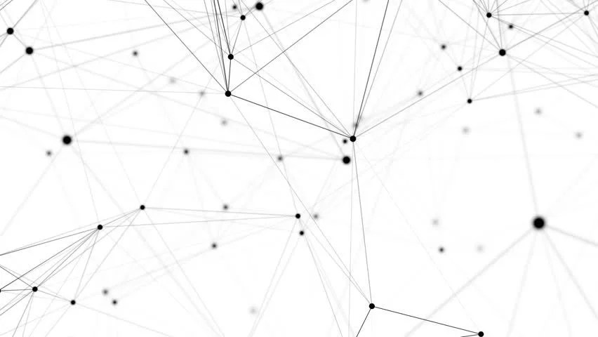 Abstract Network Animation. 4k Seamless Stock Footage