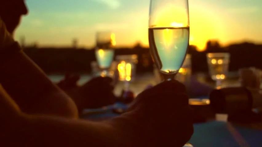 Animated Sunset Wallpaper Wine Glasses And Toast Image Free Stock Photo Public