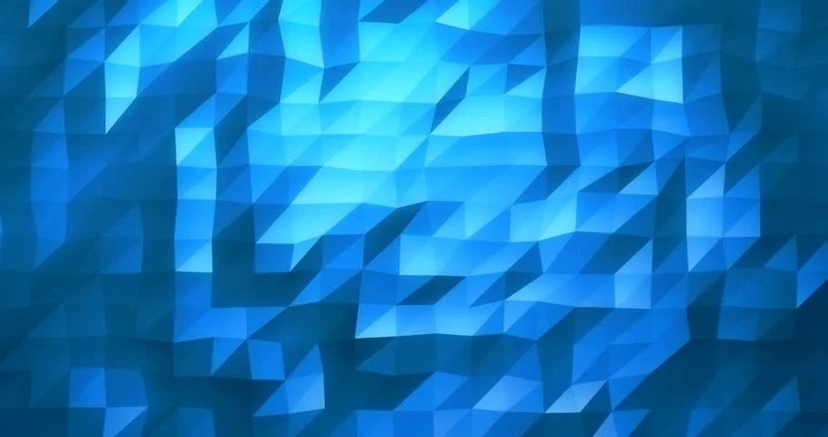 3d Wallpaper Low Bright 3d Animation Blue Low Poly Texture Stock Footage Video