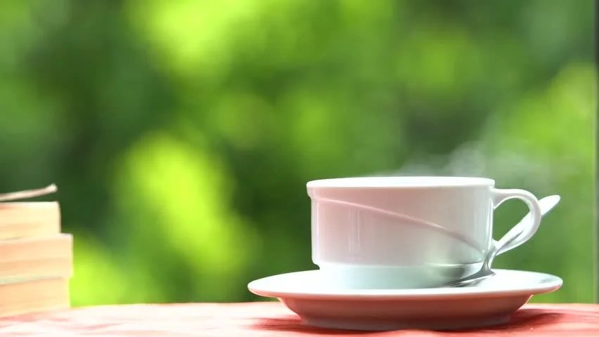 Fresh Breakfast With Hot Coffee Stock Footage Video 100