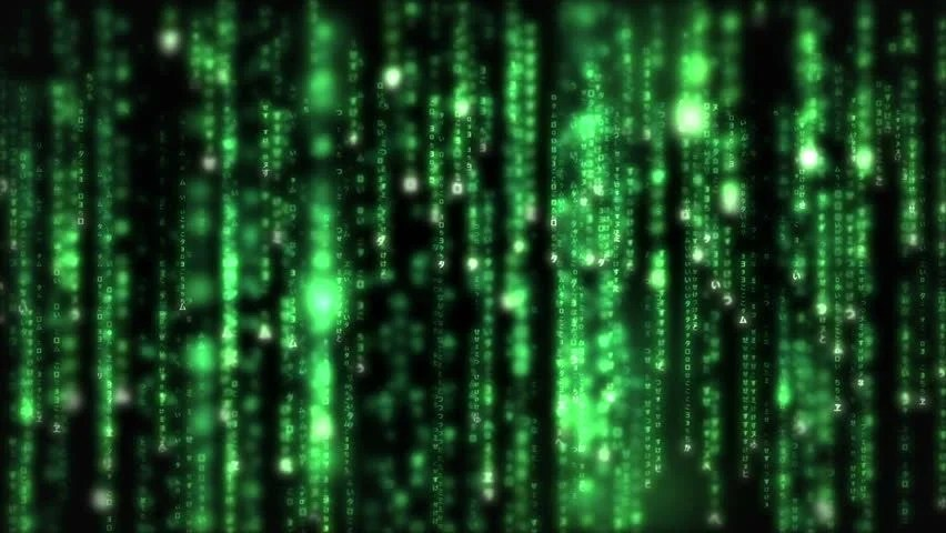 Matrix Falling Code Wallpaper Lines Of Green Blurred Letters Falling Against A Black