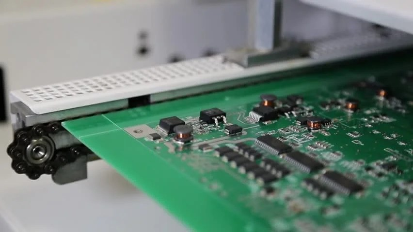 Printed Circuit Board With Electronic Components Stock Image T356