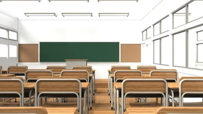 Animation of the Classroom Stock Footage Video (100% ...