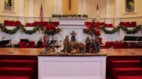 Stock video of zoom in on nativity scene inside   8260033 ...