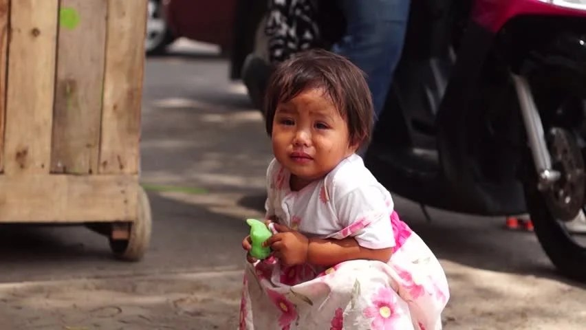 Poor Child Wallpaper Hd Father And Daughter In Cambodian Slums Stock Footage Video
