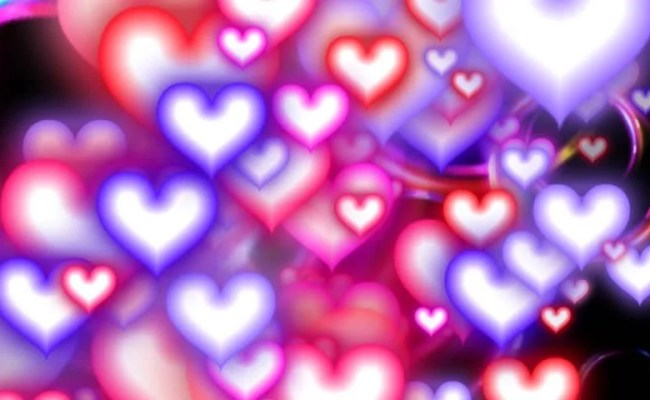 Valentine S Day Background Holiday Blinking Abstract