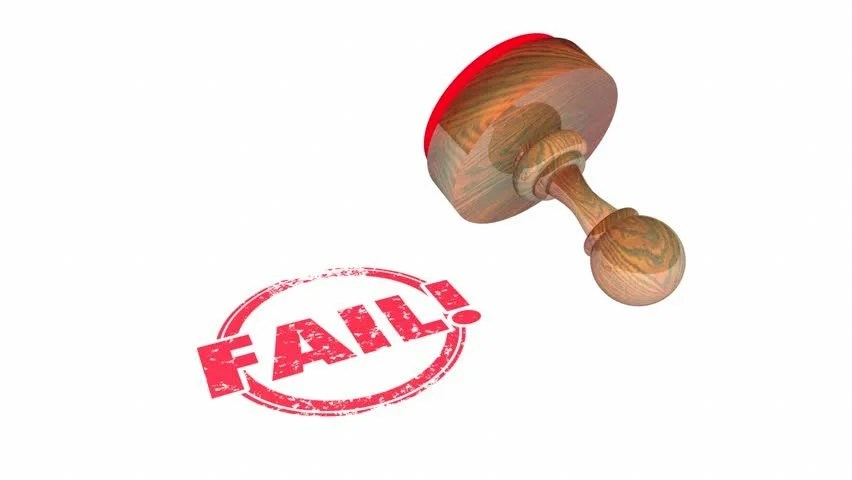 fail bad result stamp