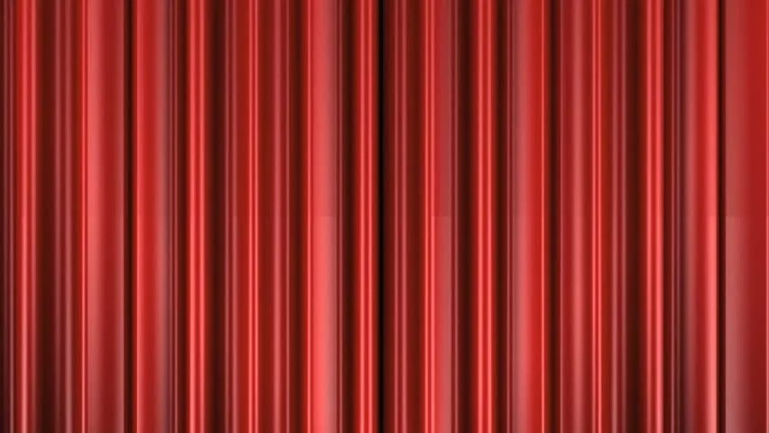 Animation Of Opening Theater Curtains The Alpha Channel Is Included Front View Stock Footage 200893 Shutterstock