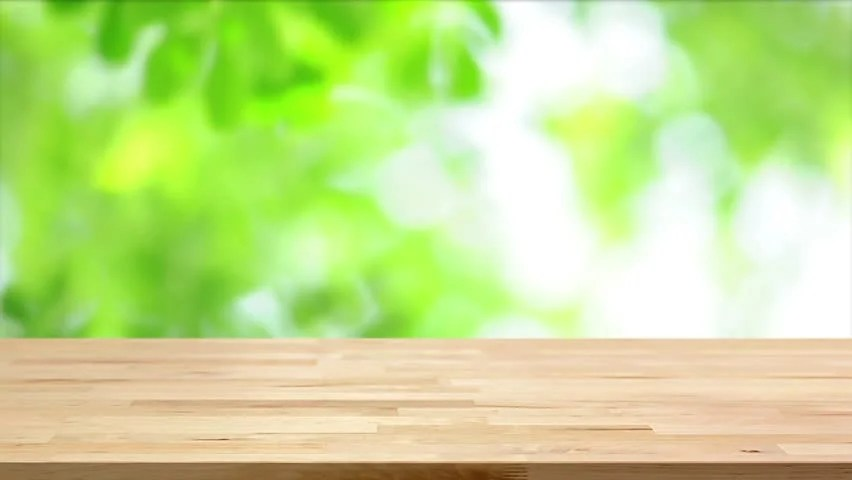 Stock Video Clip Of Wood Table Top On Blur Moving Natural