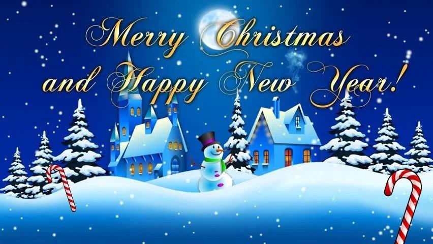 Christmas Card Animated 1 Stock Footage Video 100