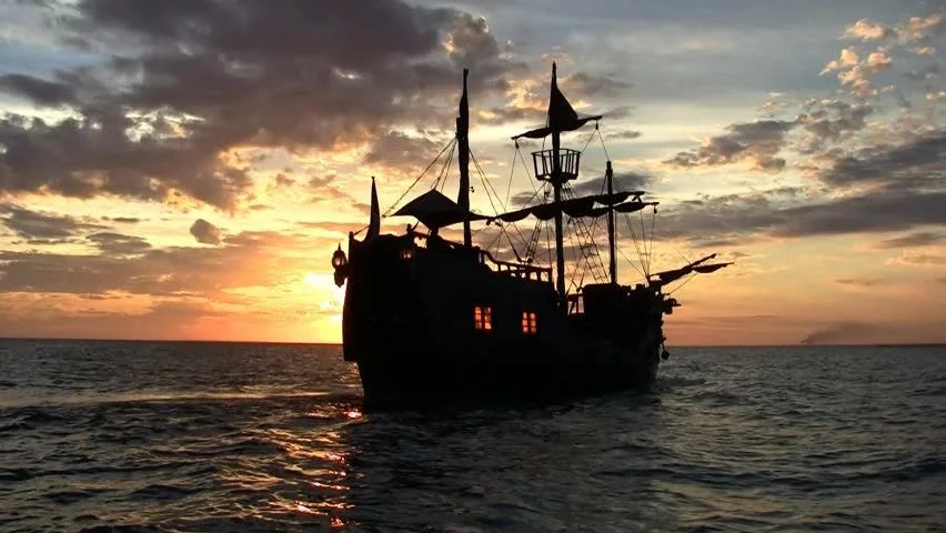 Pirate Ship Wallpaper Hd Pirate Ship Sunset Stock Footage Video 100 Royalty Free