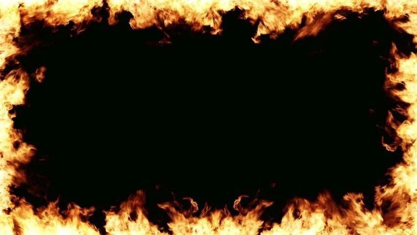 Fire Frame Motion Background Seamless Loop HD 1080p